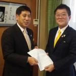 中川市長に要望書提出