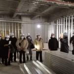 新市役所の工事現場見学